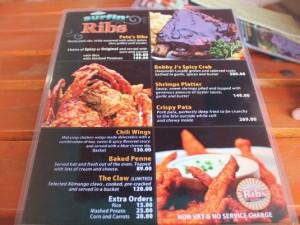 surfin ribs menu